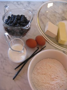 """Vanilla Bean Cake Ingredients"""