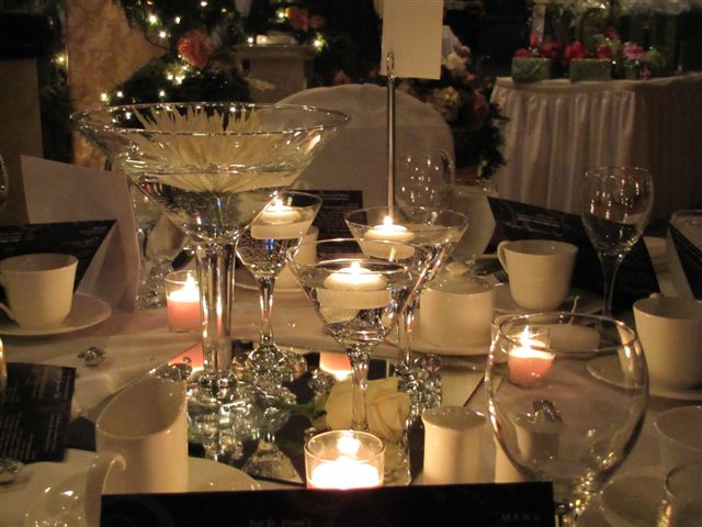 glass centerpieces. glass centerpieces;